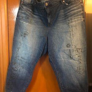 Torrid script jeans runway